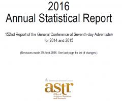 statistiques,eglise adventiste du septième jour